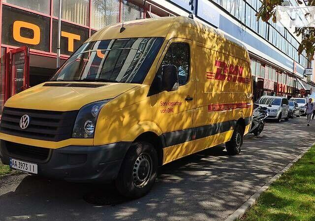 Желтый Фольксваген Крафтер груз., объемом двигателя 2 л и пробегом 277 тыс. км за 11800 $, фото 1 на Automoto.ua