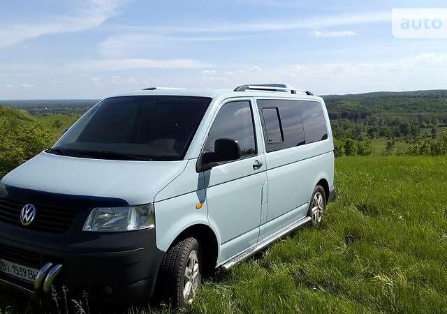 Синий Фольксваген Т5 (Транспортер) пасс., объемом двигателя 1.9 л и пробегом 135 тыс. км за 12000 $, фото 1 на Automoto.ua