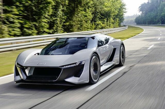Audi PB18 e-tron: новый спортивный электромобиль с запасом хода 500 км
