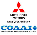 """Логотип Официальный дилер Mitsubishi Motors """"Солли Плюс Харьков"""""""