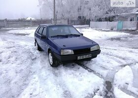 Синий ВАЗ 2109, объемом двигателя 1.3 л и пробегом 100 тыс. км за 1600 $, фото 1