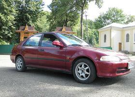 Вишнёвый Хонда Цивик, объемом двигателя 15 л и пробегом 355 тыс. км за 3000 $, фото 1