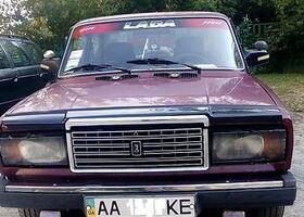 Вишнёвый ВАЗ 2107, объемом двигателя 1.45 л и пробегом 165 тыс. км за 1600 $, фото 1