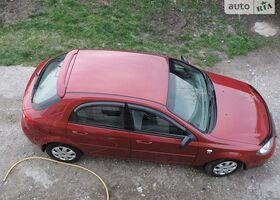 Красный Шевроле Лачетти, объемом двигателя 1.6 л и пробегом 140 тыс. км за 6400 $, фото 1