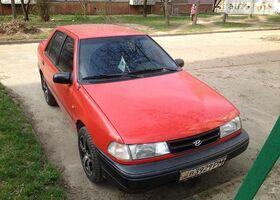 Красный Хендай Пони, объемом двигателя 1.5 л и пробегом 423 тыс. км за 2000 $, фото 1