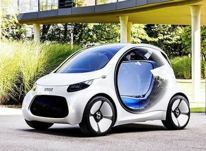 Smart Vision EQ Fortwo - беспилотный электромобиль будущего в представлении Daimler
