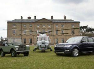 Ленд Ровер HUE 166 и Range Rover